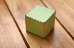 怎樣用紙折正方體盒子 立體正方體折紙教程