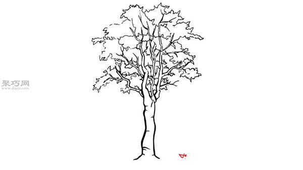 怎么画一棵真实的大树 如何画树