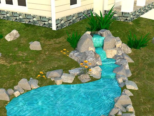 人造庭院瀑布景观怎么搭建 瀑布景观设计教程图片