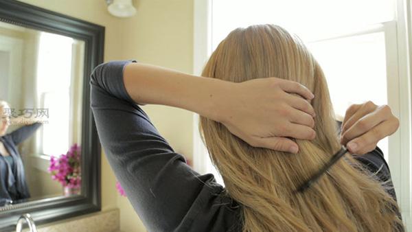长发编荷兰辫的编发长发发型做可爱步骤图解机箱mod教程图片