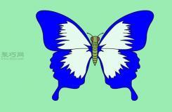 从身体开始画蝴蝶教程图解 教你简笔画从身体开始画蝴蝶的画法