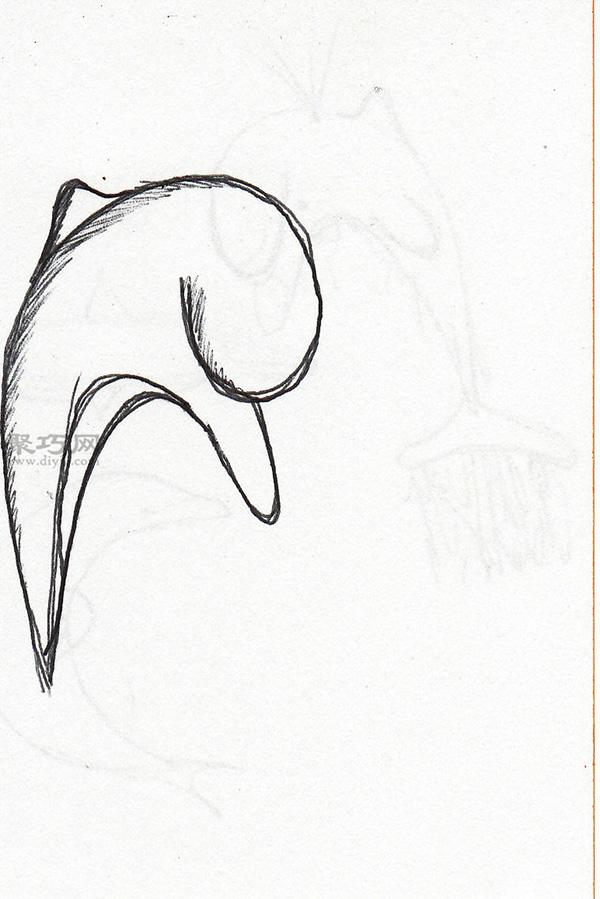 教程图解 教你简笔画卡通海豚的画法