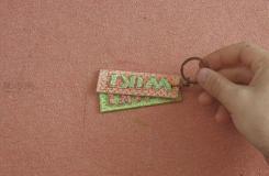 手工制作钥匙链教程 教你如何DIY字母钥匙链
