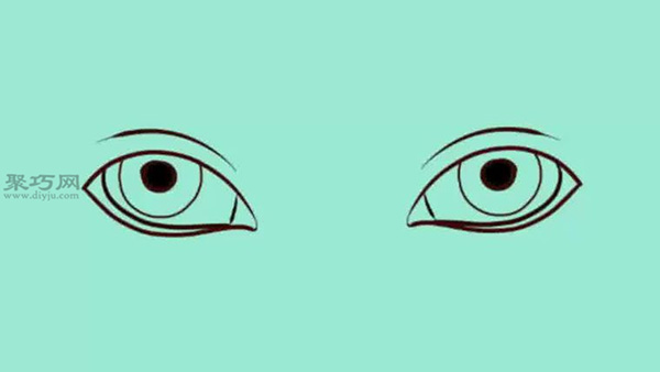 逼真眼睛的画法步骤 教你怎么画逼真眼睛简笔画