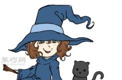 漫画卡通小魔女的画法 教你如何画小女巫