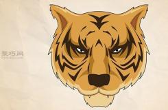 畫老虎頭教程圖解 教你簡筆畫老虎頭的畫法