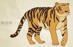 老虎的画法步骤 教你怎么画老虎全身简笔画