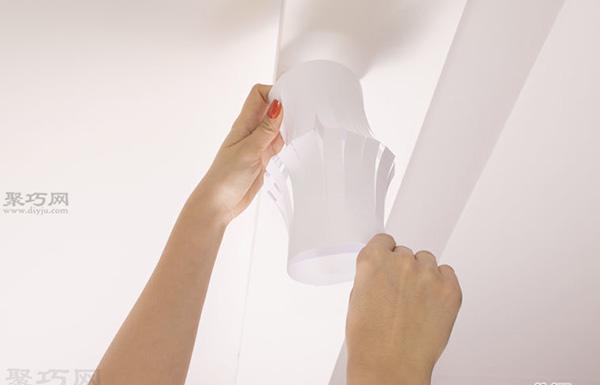 超级简单纸灯笼的做法步骤 儿童手工制作纸灯笼教程 7