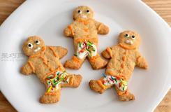 圣诞姜饼小人儿曲奇家常做法 曲奇饼干的做法