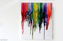 画蜡笔热熔画步骤 用吹风机融化蜡笔吹蜡笔创意画