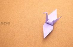 手工折紙千紙鶴的折法圖解 教你如何折疊立體千紙鶴