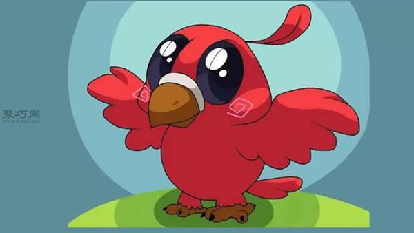 画法步骤 教你怎么画卡通小鸟简笔画