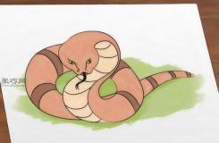 画蛇教程图解 教你简笔画蛇的画法