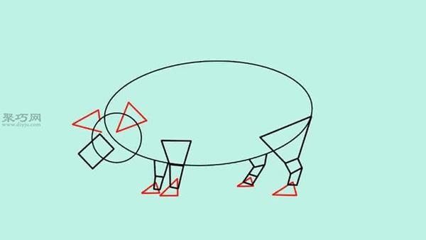 猪的画法步骤