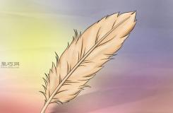 ��卡通羽毛教程�D解 教你��P��卡通羽毛的��法