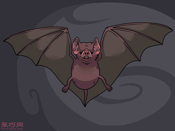 蝙蝠怎么画更逼真 18