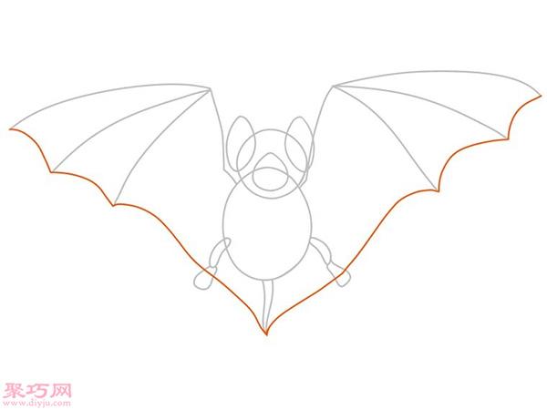 蝙蝠怎么画更逼真 15