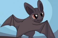卡通蝙蝠怎么�� 可�鄣目ㄍ�蝙蝠��法步�E�D解