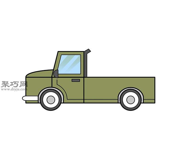 简笔画轻型卡车的画法步骤 教你怎么画轻型卡车