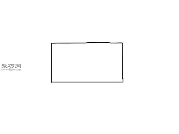 简笔画麦克货车的画法步骤