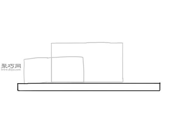 简笔画麦克货车的画法步骤 3