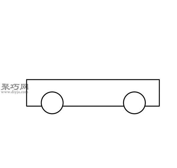 簡筆畫輕型卡車的畫法步驟 02