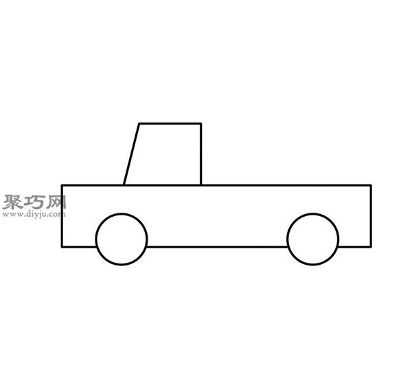 簡筆畫輕型卡車的畫法步驟 03