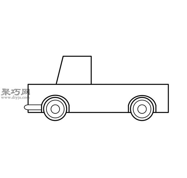 簡筆畫輕型卡車的畫法步驟 05