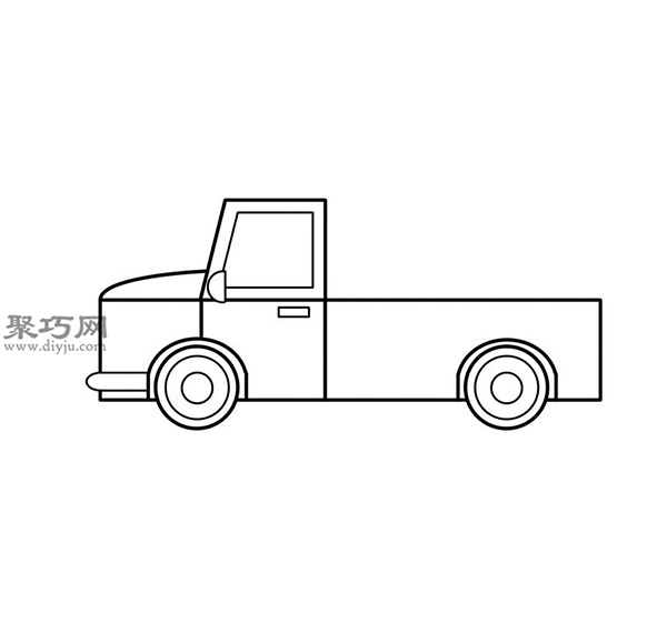 簡筆畫輕型卡車的畫法步驟 11