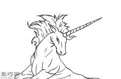 仿真独角兽的画法步骤 教你怎么画逼真的独角兽简笔画