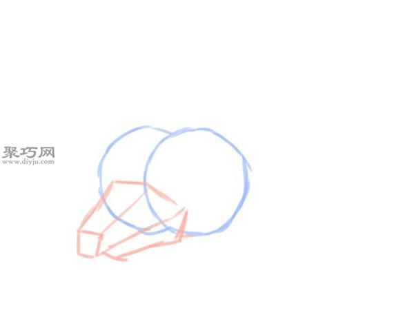 简笔画龙头像的画法 2