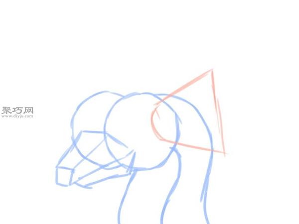 简笔画龙头像的画法 4