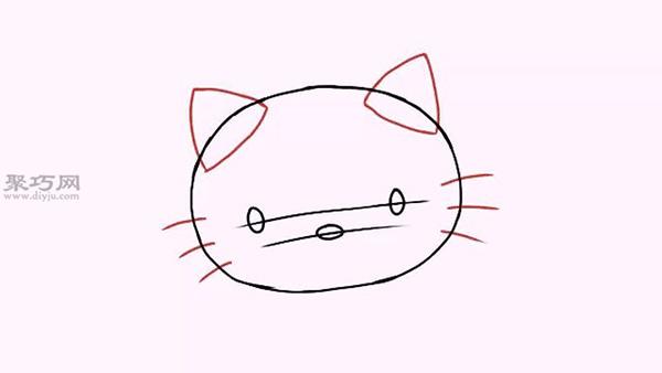 卡通凯蒂猫的画法步骤教程