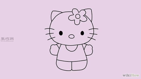 教你可爱的卡通凯蒂猫怎么画