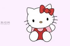 卡通�P蒂�的��法步�E教程 教你坐著的Hello Kitty的��法