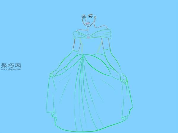 铅笔画站立的公主步骤 如何画美丽的站立公主