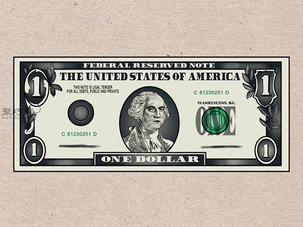 美元钞票怎么画 画一美元钞票详细步骤 7
