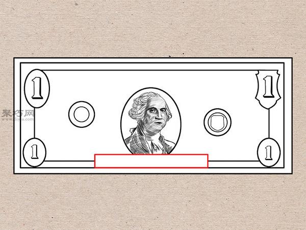 美元钞票怎么画 画一美元钞票详细步骤 4