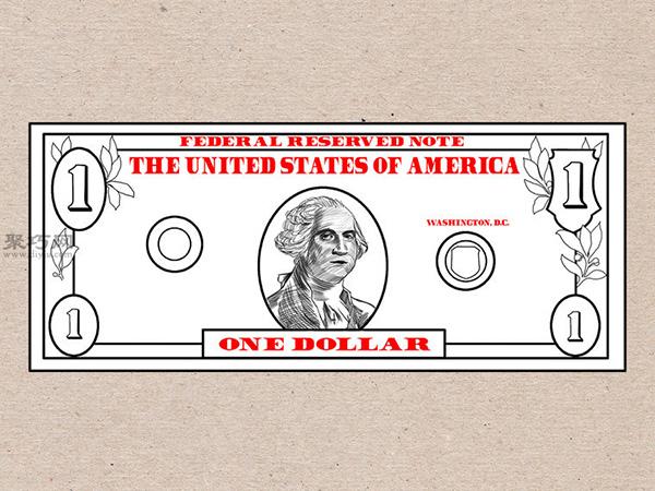 美元钞票怎么画 画一美元钞票详细步骤 6