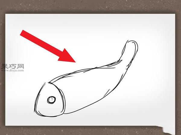 錦鯉簡筆畫怎么畫 如何畫一條逼真的錦鯉 2