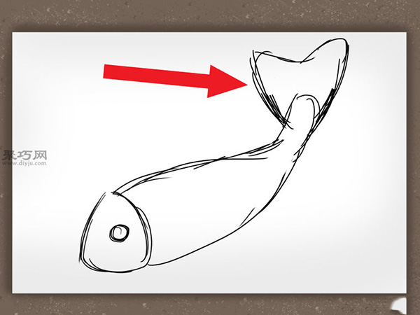 錦鯉簡筆畫怎么畫 如何畫一條逼真的錦鯉 3