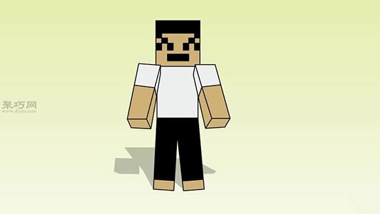 游戏我的世界中人物的正面画法