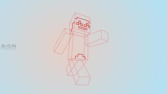 我的世界游戏中人物侧面怎么画
