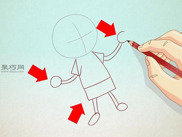 卡通小男孩的画法步骤 2