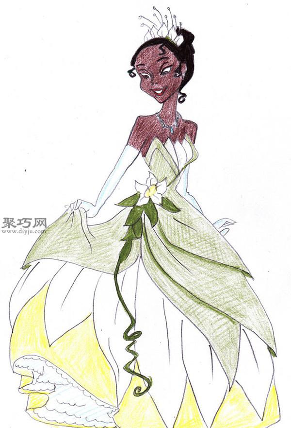 怎样画迪士尼公主 手绘迪士尼公主作品大全 8