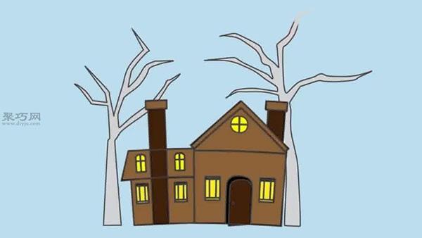 五种房子画法教程图解 画小房子的图片大全