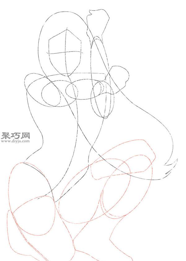 神奇女侠的画法步骤 教你怎么画神奇女侠