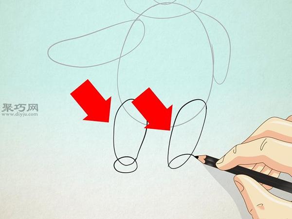 小熊维尼的画法步骤教程 教你站着的维尼熊的画法