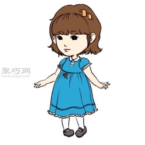 画卡通女孩的教程图解 10