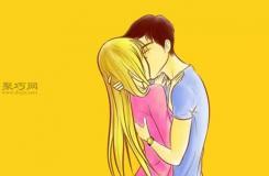 動漫人物半身側面接吻的基本畫法教程詳解